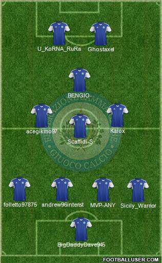 San Marino 4-3-1-2 football formation