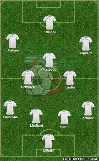 Algeria 4-2-1-3 football formation