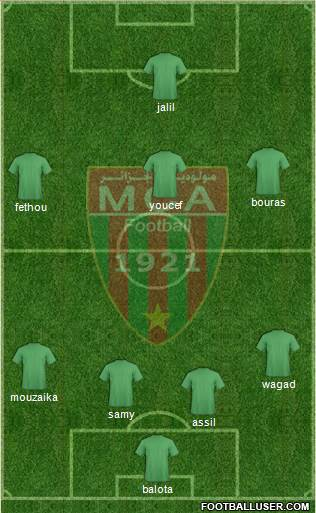 Mouloudia Club d'Alger 4-2-3-1 football formation