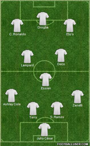 Fifa Team 4-2-1-3 football formation