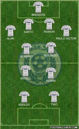 Al-Nassr (UAE) 4-4-2 football formation