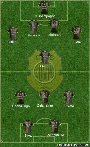 Olimpo de Bahía Blanca 4-1-3-2 football formation
