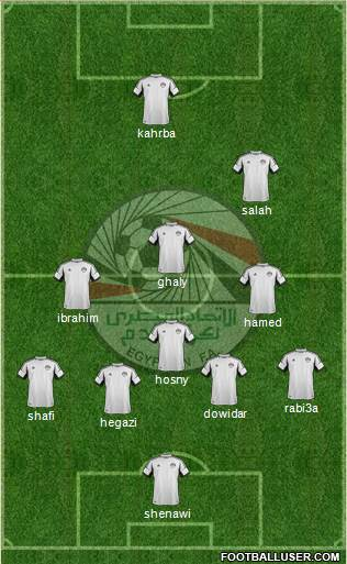 Egypt 4-5-1 football formation