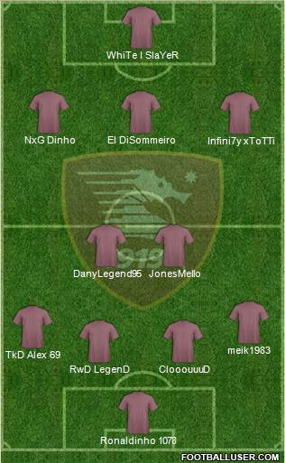 Salernitana 4-2-3-1 football formation