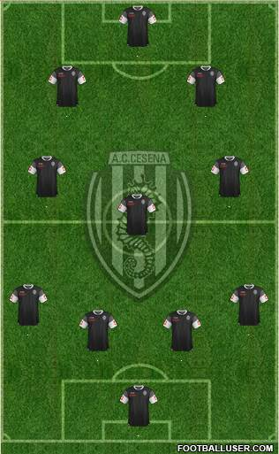 Cesena 4-2-3-1 football formation