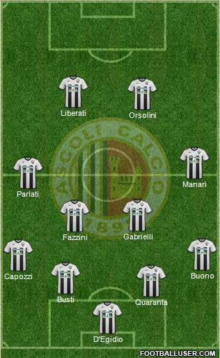 Ascoli 4-4-2 football formation