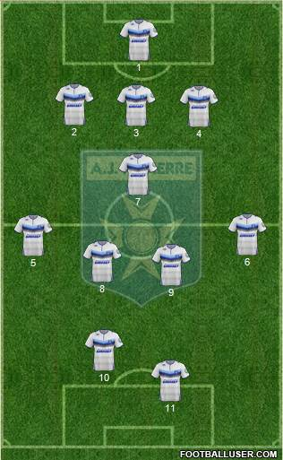 A.J. Auxerre 3-5-2 football formation