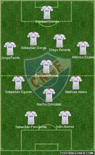 Club Nacional de Football 4-3-1-2 football formation