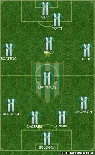 Banfield 4-1-3-2 football formation