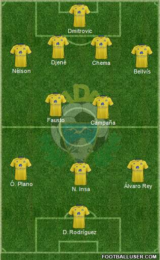 A.D. Alcorcón 4-3-2-1 football formation