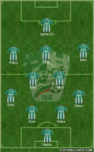 Beroe (Stara Zagora) 4-2-3-1 football formation
