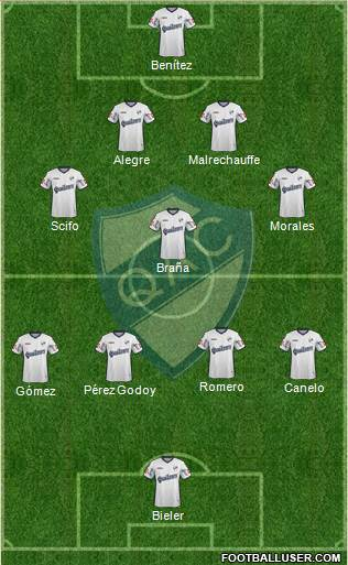 Quilmes 4-1-4-1 football formation