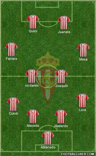 Real Sporting S.A.D. 4-2-2-2 football formation