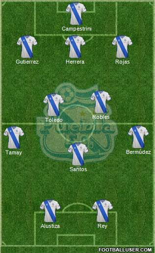 Club Puebla de la Franja 3-5-2 football formation
