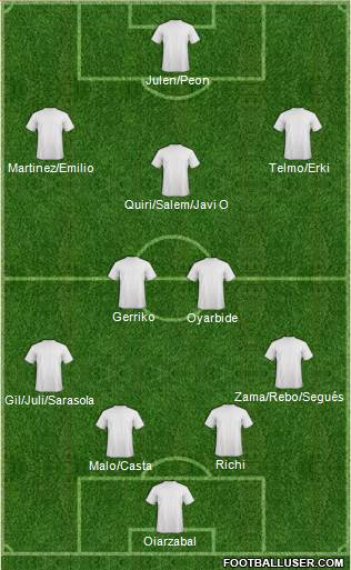 Euro 2012 Team 4-2-3-1 football formation