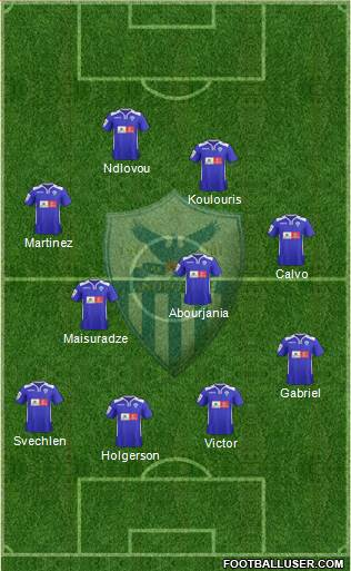 AE Anorthosis Famagusta 4-3-2-1 football formation