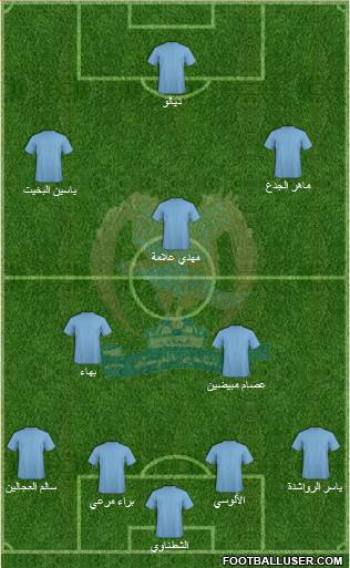 Al-Faysali (JOR) 4-3-2-1 football formation