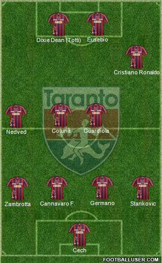 Taranto 4-4-2 football formation