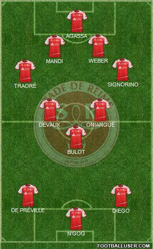 Stade de Reims 3-5-2 football formation