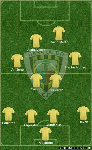 Barakaldo C.F. 4-4-1-1 football formation