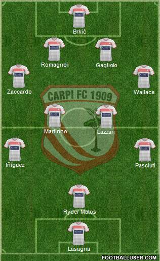 Carpi 4-4-1-1 football formation