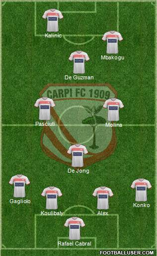 Carpi 4-3-1-2 football formation