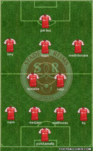 Stade de Reims 4-2-3-1 football formation
