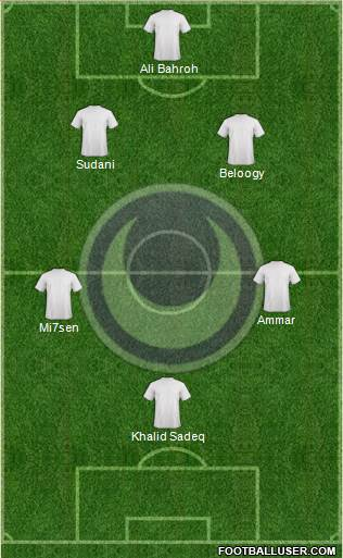 Al-Hilal Omdurman 4-1-3-2 football formation
