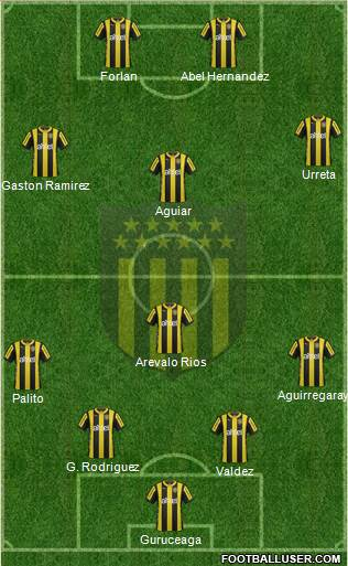 Club Atlético Peñarol 4-1-3-2 football formation