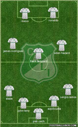 AC Deportivo Cali 5-3-2 football formation