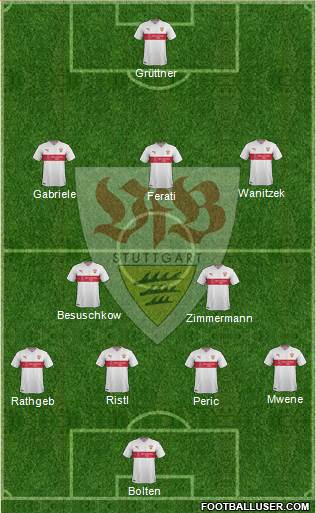 VfB Stuttgart 4-5-1 football formation