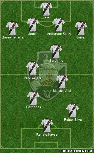 CR Vasco da Gama 4-2-2-2 football formation