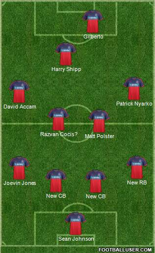 Chicago Fire 4-4-1-1 football formation
