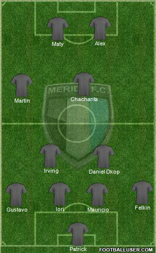 Mérida Futbol Club 4-1-3-2 football formation