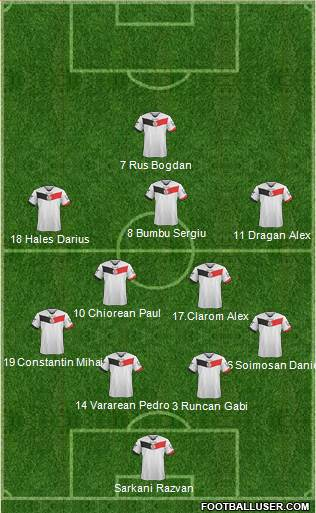 ACS Berceni 4-4-1-1 football formation