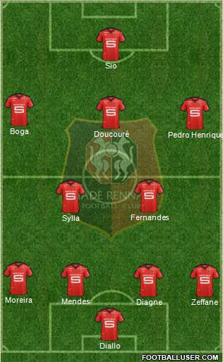 Stade Rennais Football Club 4-3-2-1 football formation
