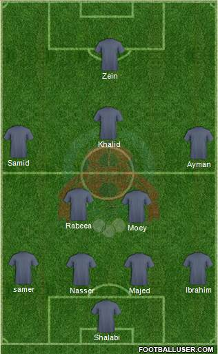 Al-Rayyan Sports Club 4-2-3-1 football formation
