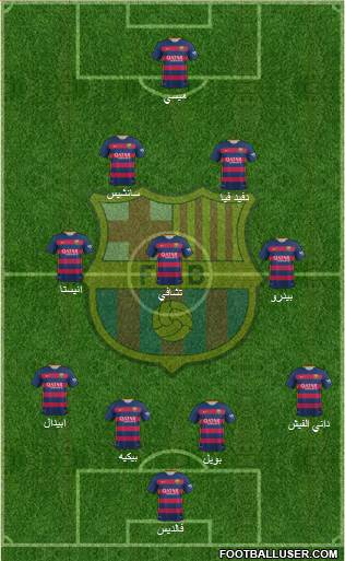 F.C. Barcelona 4-3-3 football formation