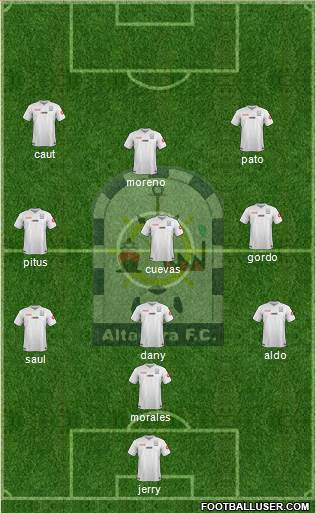 Club Altamira F.C. 4-2-2-2 football formation