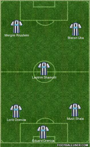 Newcastle United 3-5-1-1 football formation