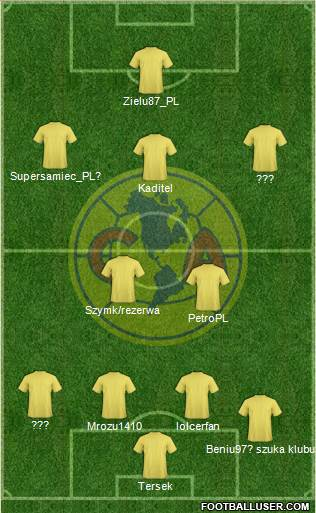 Club América Coapa 4-2-3-1 football formation