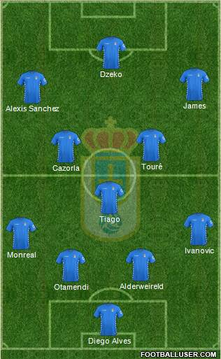 Real Oviedo S.A.D. 4-1-4-1 football formation