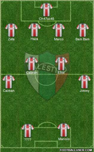 CD Palestino S.A.D.P. 4-4-2 football formation