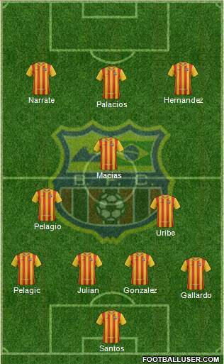 Barcelona FC (RJ) 4-2-1-3 football formation