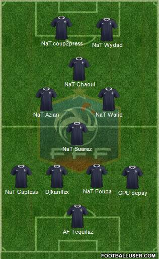 France 5-4-1 football formation