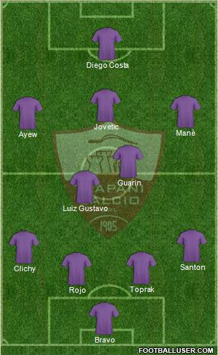 Trapani 4-2-3-1 football formation