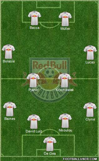 FC Salzburg 4-2-2-2 football formation