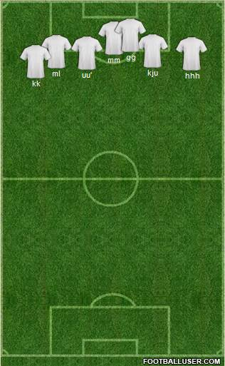 Champions League Team 4-2-2-2 football formation