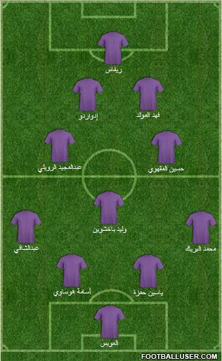 Saudi Arabia 4-4-2 football formation