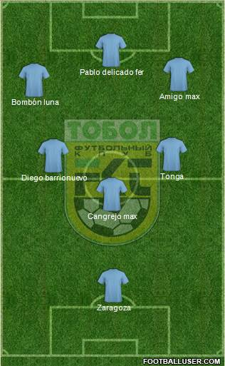 Tobyl Kostanay 5-4-1 football formation